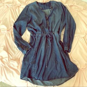 Lucky Brand Chambray Shirt dress. Size XL.